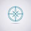 Векторный клипарт: значок земного шара и компас