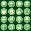 Reihe von irischen St. Patrick`s Day Symbole
