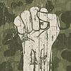 Faust-Symbol (Revolution) auf militärische Tarnung
