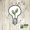 绿色生态能源概念,厂房内的二极管灯成长 | 向量插图