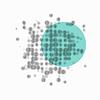 Wissenschaft Abstrakt Hintergrund mit verschwommenen Dots