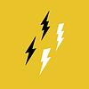 Lightning Bolt Icons auf Gelb