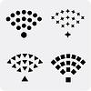 Set aus schwarzen und drahtlose Wi-Fi-Icons