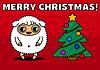 Векторный клипарт: Овцы с елкой