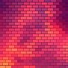 Векторный клипарт: Sundown тематический фон с кирпичной сетки