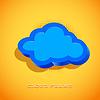 Векторный клипарт: Ретро-карты с облаком знак