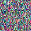 Векторный клипарт: Красочные картины с хаотической пикселей