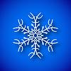 Векторный клипарт: Снежинка с тенью