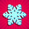 Векторный клипарт: 3D Рождество снежинка