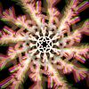 Векторный клипарт: Рождество снежинка знак с аберраций