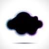 Векторный клипарт: Полутона форма облака с цветными аберраций