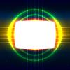 Векторный клипарт: Блестящий экран на скрещенных проводов