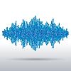 Векторный клипарт: Звук сигнала выполнен из хаотических шаров