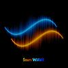Векторный клипарт: Стерео звук сигнала