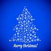 Weihnachtsbaum von Zufalls Schneeflocken