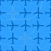 Wohnung Stil nahtlose Muster mit fehlenden Flugzeuge