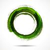 Frische grüne Pinsel bemalt Aquarell Ring