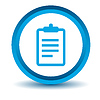 Blaue-Liste-Symbol | Stock Vektrografik