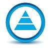 Blau Pyramide Symbol | Stock Vektrografik