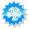 Pizza blaue Symbol