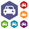 Car rhombus icons | Stock Vector Graphics