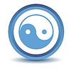 Blaues Yin Yang Symbol