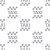 Vector clipart: New Taxi seamless pattern