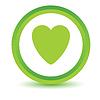 Grüne Herz-Symbol