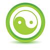 Grün Yin Yang Symbol