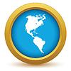 Gold Kontinent Amerika Symbol