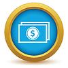 Векторный клипарт: Золото значок деньги