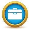Векторный клипарт: Золото значок сумка