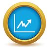 Векторный клипарт: Золото значок нестабильной график