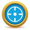Векторный клипарт: Золотым значком цель
