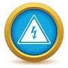 Векторный клипарт: Золото значок напряжение