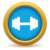 Векторный клипарт: Золото значок вес