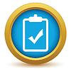 Векторный клипарт: Золото список значок да