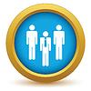 Векторный клипарт: Золото значок рабочая группа