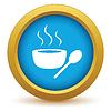 Векторный клипарт: Золото значок суп