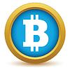 Векторный клипарт: Золото Bitcoin значок