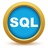 Векторный клипарт: Золото значок SQL