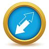 Векторный клипарт: Золото значок обратная