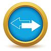 Векторный клипарт: Новая иконка золото обратная