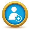 Векторный клипарт: Золото добавить значок пользователя