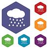 Regen Raute Symbole