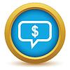 Gold denkt an Geld Symbol