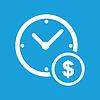 Clock Geld-Schaltflächen