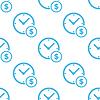 Clock Geld-Weiß-Muster