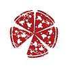Red Grunge Pizza logo