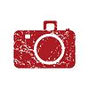 Red Grunge Kamera logo